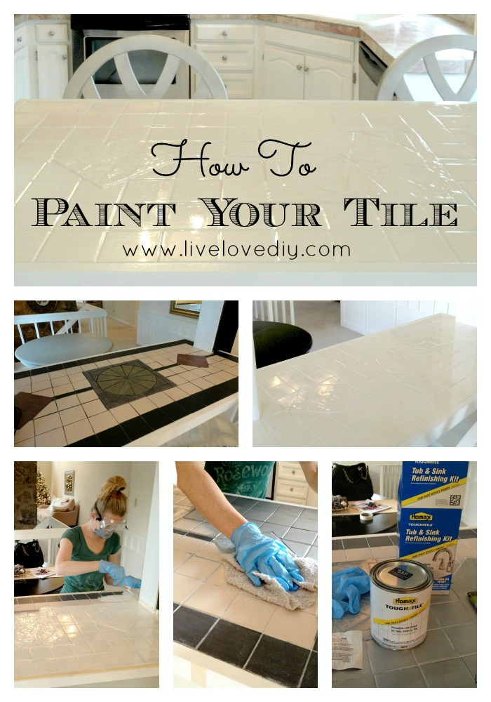 Diy Painting Kitchen Tile With Latex Paint