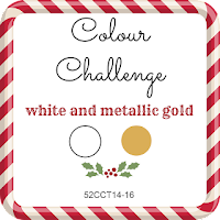 52 CCT Colour Challenge - White and Metallic Gold