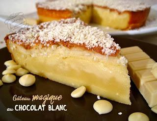 Gâteau magique chocolat blanc