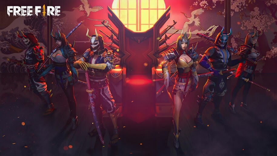 Free Fire, Samurai, Skins, 4K, #3.2396