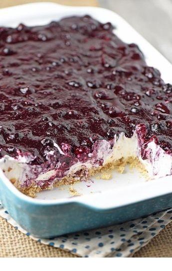 Creamy No Bake Blueberry Dessert