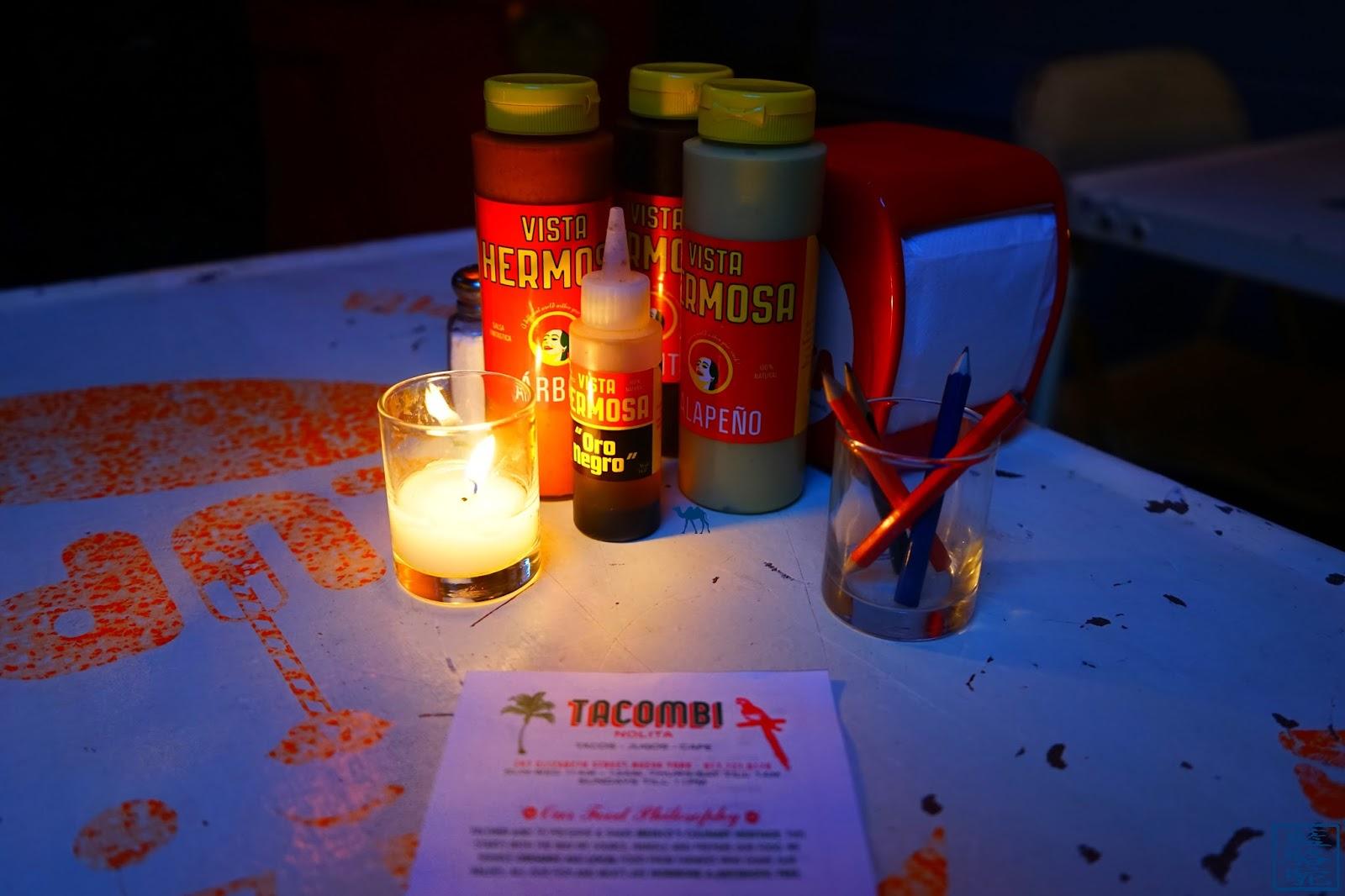 Le Chameau Bleu - Blog Voyage New York City - Diner à  Tacombi - Table - Restaurant mexicain à New York USA