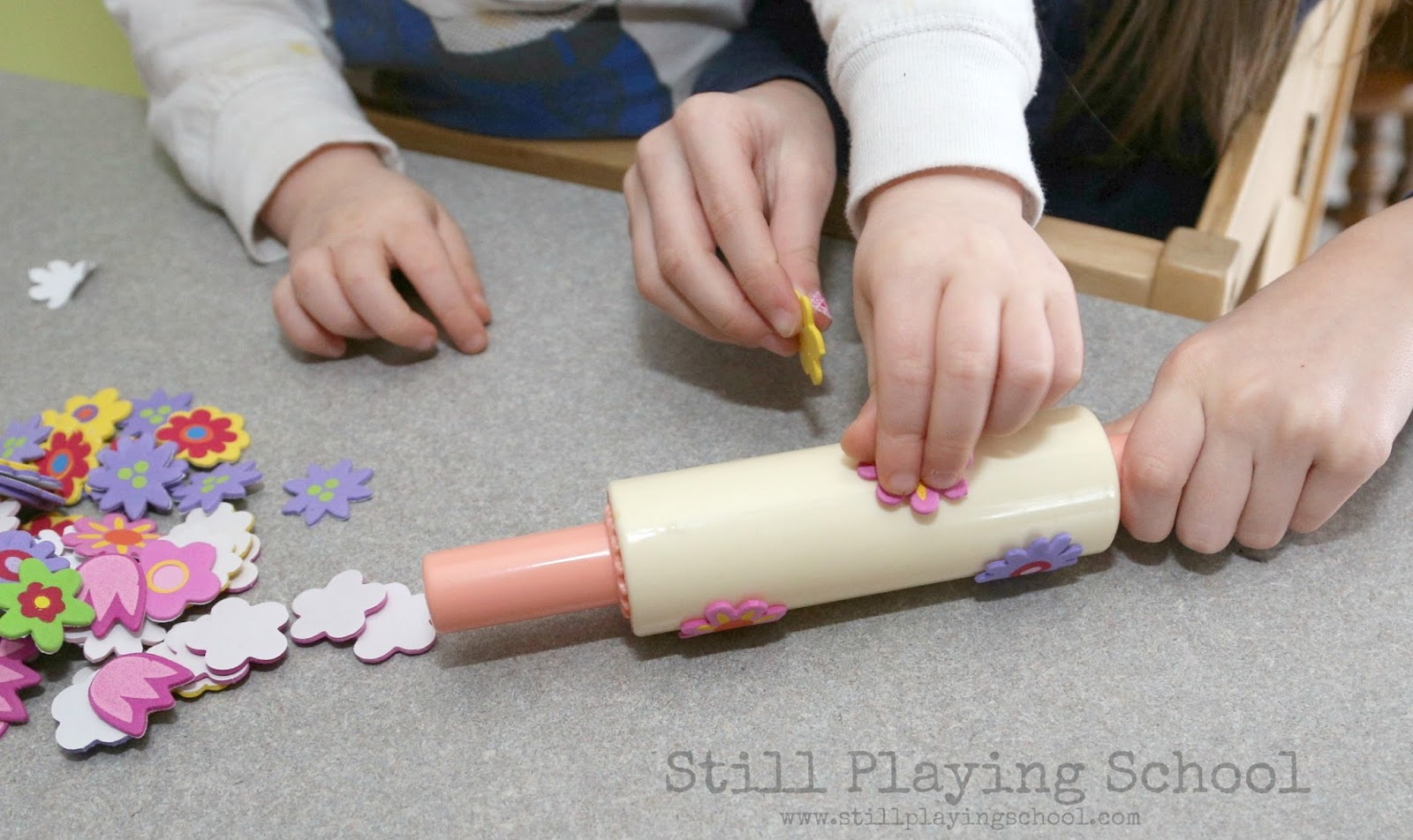 Foam Stickers Process Art Still Playing School