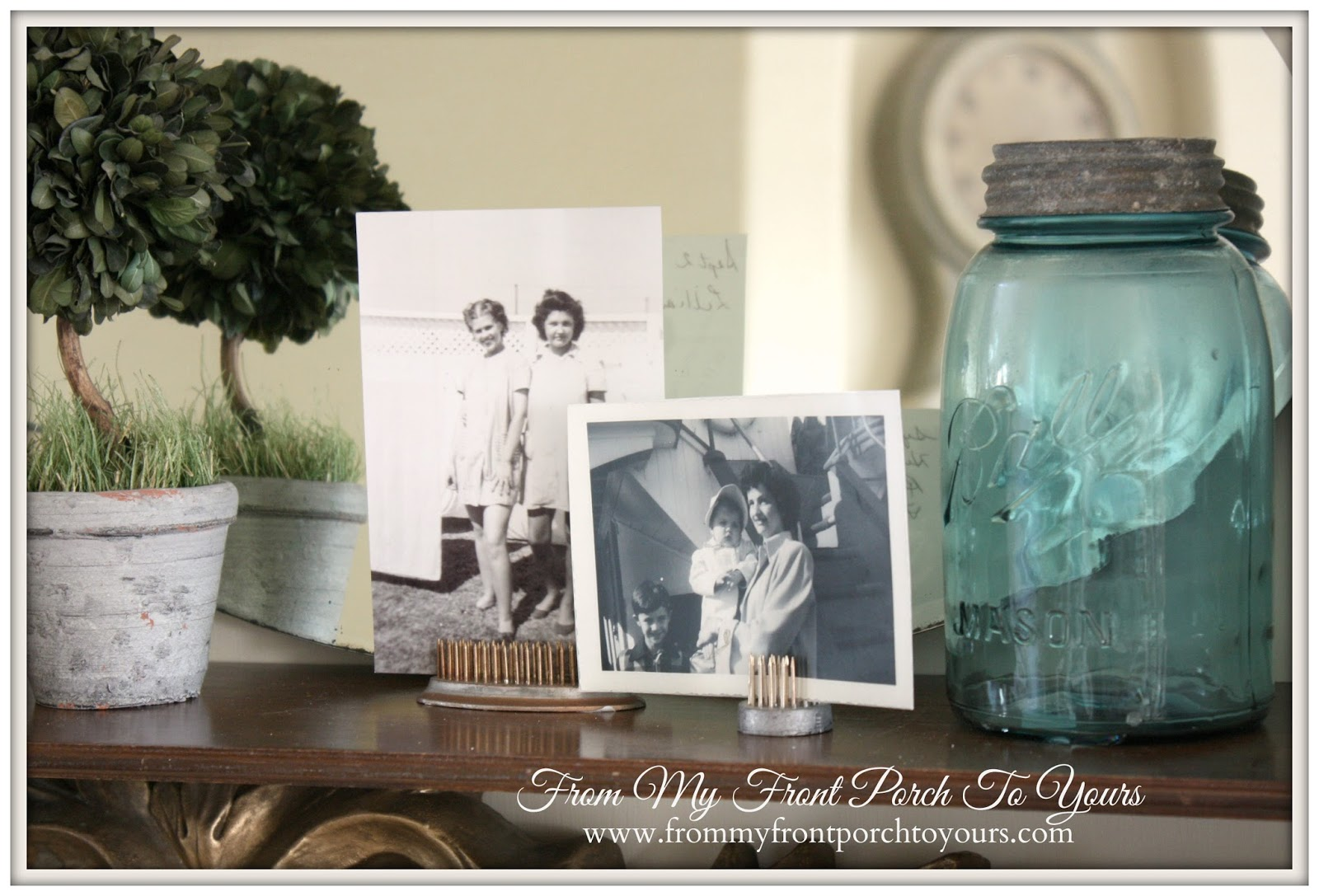 Vintage Family Photos-French Farmhouse Bedroom-How I Found My Style Sundays- From My Front Porch To Yours