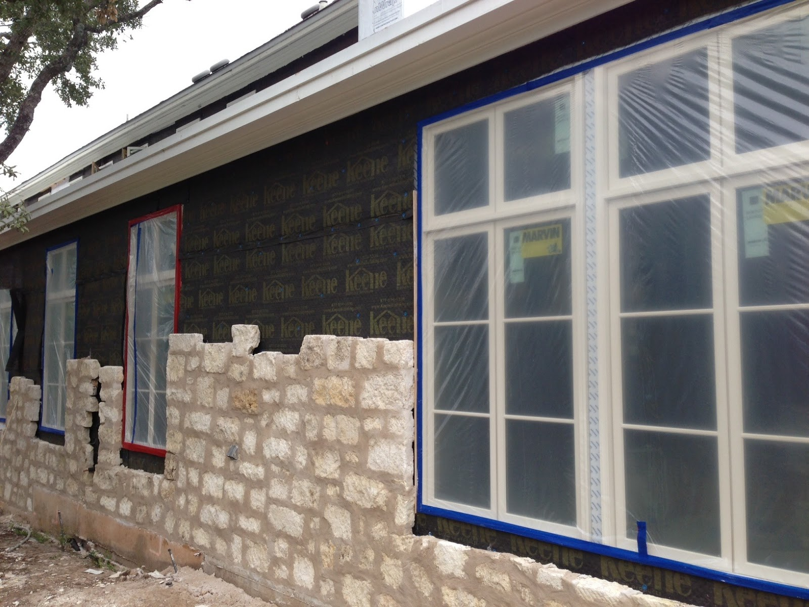 Best Practices Methods For Installing Brick Or Stone Veneer Fine Wiring A House 4th Edition Completely Revised And Updated Photo Shows Tyvek Drainwrap But Id Use Commercialwrap Without The Crinkles Lower Perm Rating