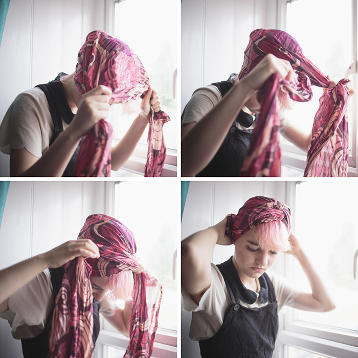Dresses On A Clothesline Hair Tutorial How To Tie A Scarf In 7 Ways