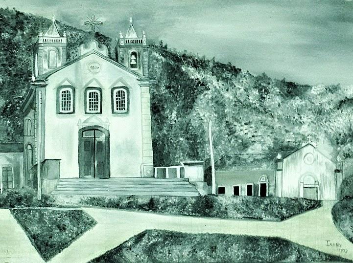 Desenho da Igreja de Nossa Senhora da Lapa de Ribeirão da Ilha, uma herança colonial