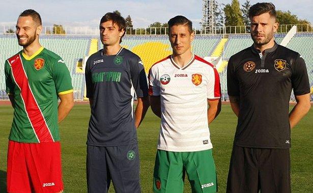 Joma apresenta as novas camisas da Bulgária - Show de Camisas 8171ca47ec340