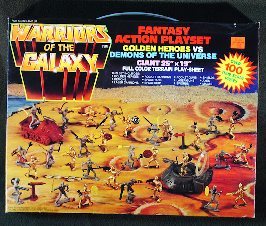 Rare Marty Toy Warriors of the Galaxy Non-Electronic Playset on Ebay.