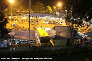 Pasar Malam Terminal Lawang Kuari, Baru Buka Sudah Di Padati Pengunjung