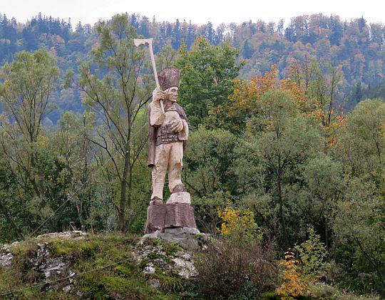 Góral na skale Kotuńki.