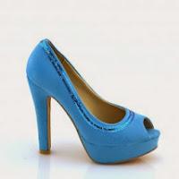Pantofi dama albastri piele eco