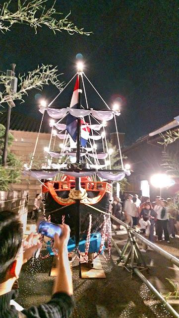 出島町 傘鉾・阿蘭陀船(おらんだぶね)