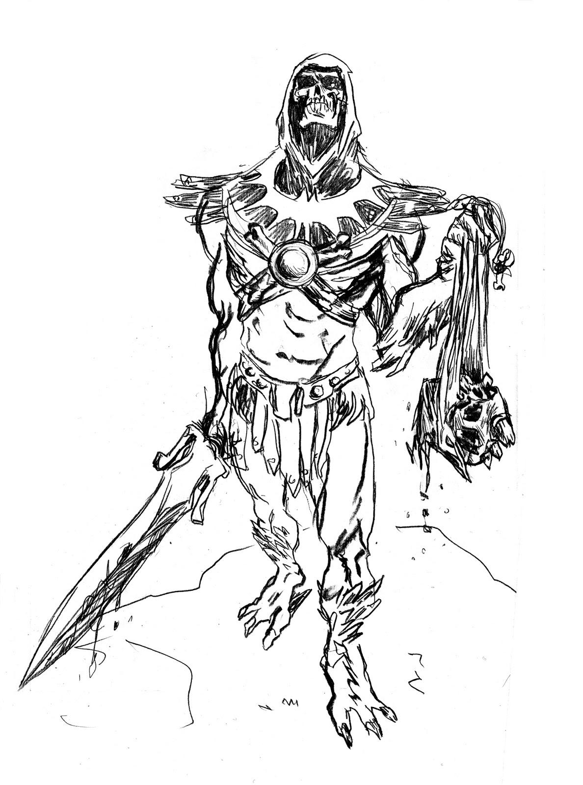 antoine dodé: Skeletor fan art
