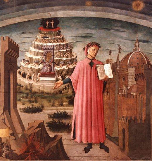 """""""Dante Alighieri e i regni dell'oltretomba"""", Domenico di Michelino, Santa Maria del Fiore, Firenze"""