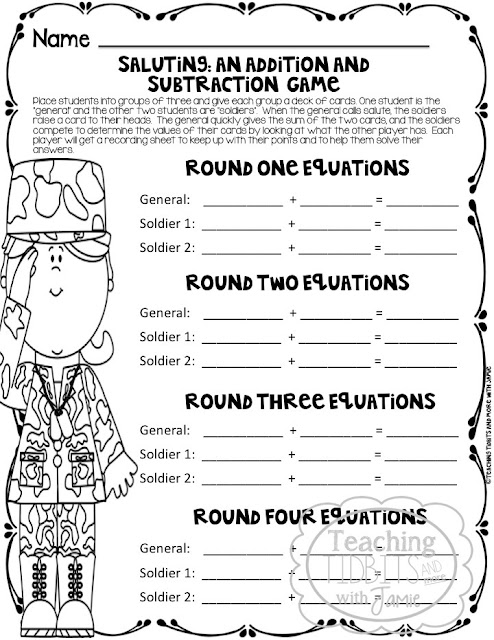 Math Games and Printables