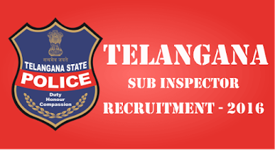 Telangana -SI -Police- Notification -2016 -Online -Apply -POLICE- RECRUITMENT
