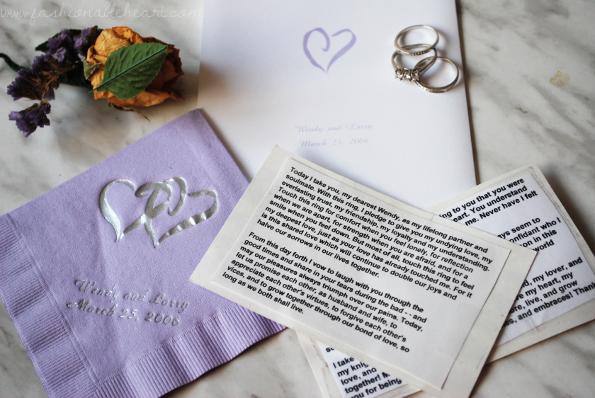 bbloggers, bbloggersca, lbloggers, wedding, anniversary, memories, rings, invitation, theme, roses, hearts, lilac, silver, vows, mementos