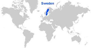 Gambar Peta letak Swedia