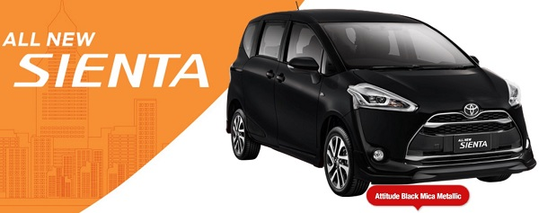 Warna Toyota All New Sienta Black Mica Metalic Ready Stock