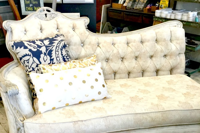 Glamorous Chalk Painted® Fabric Chaise