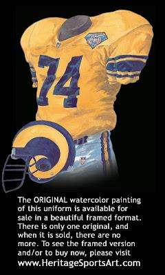 Los Angeles Rams 1994 uniform - St. Louis Rams 1994 uniform