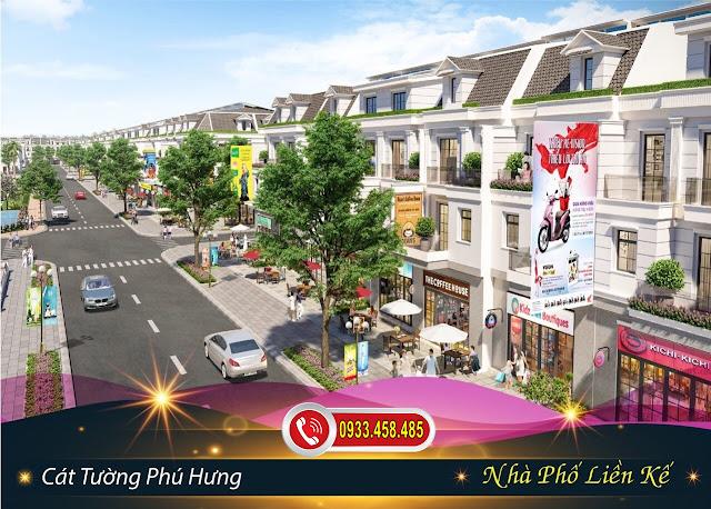 Mẫu nhà phố liền kế tại dự án Khu Đô Thị Phức Hợp & Cảnh Quan Cát Tường Phú Hưng