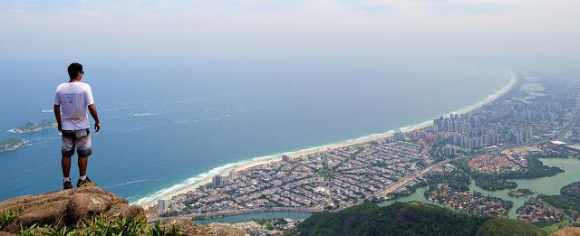 Rio de janeiro, pedra da gavea, carrasqueira, vista, barra da tijuca, linda, panoramica, trilha, rotas cariocas
