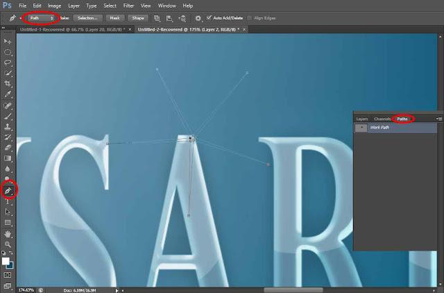 Tutorial Photoshop Membuat Teks Efek Bening seperti Kaca