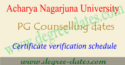 ANU PGCET 2017 counseling dates anucet certificate verification