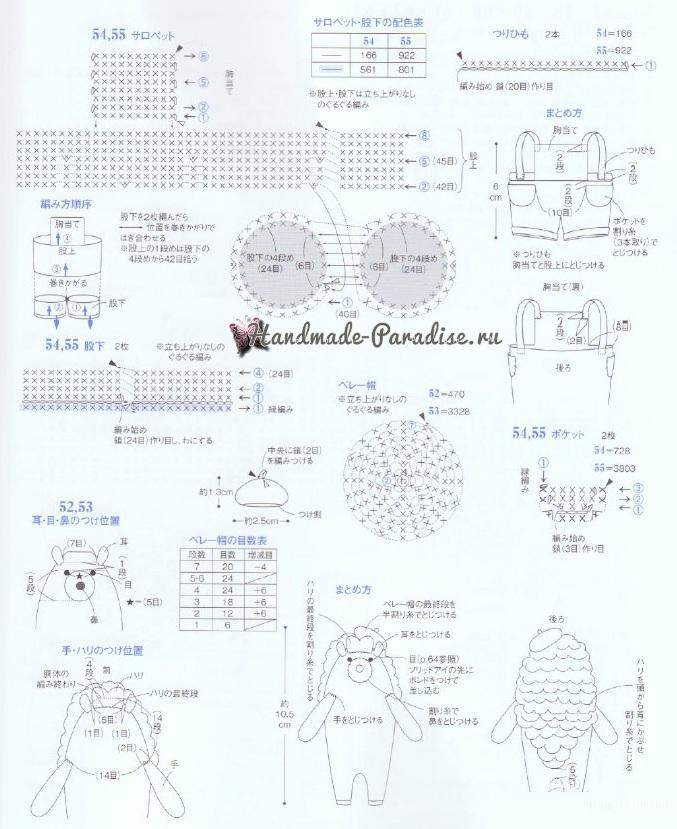 Схемы вязания ежиков и хрюшек амигуруми (4)