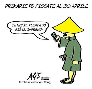 Primarie PD, PD, cinesi, 30 aprile, satira, vignetta