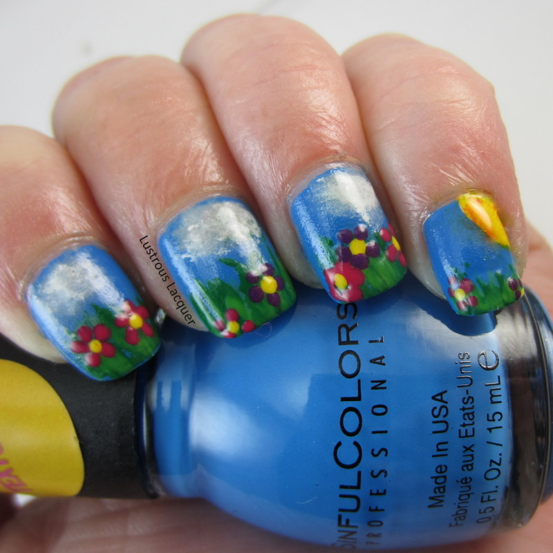 Let\'s Go Camping Nail Art Challenge Day 2: Nature - <em>Lustrous ...