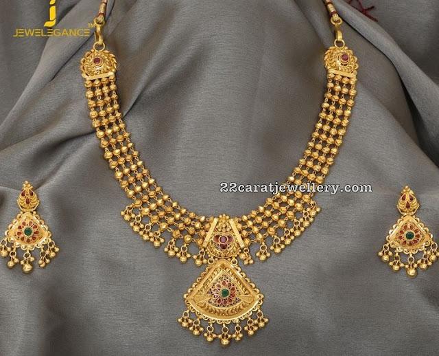 50grams Gold Balls Necklace