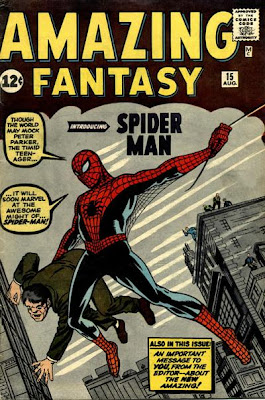 Amazing Fantasy #15, Spider-Man first appearance and origin, cover