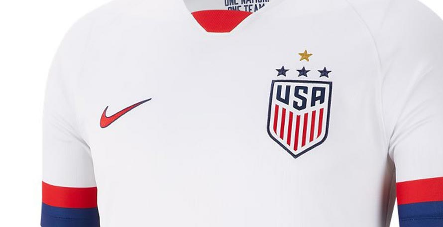 new concept 2fdf1 ede63 USA Women's Kits Receive Fourth Star - Footy Headlines
