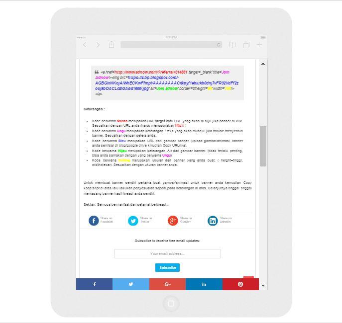 cara melihat tampilan blog versi mobile di pc/laptop