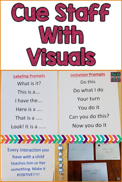 Visuals aren't just for students! Staff need visual cues, too.