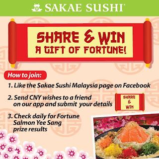 sakae - CONTEST - Win a Fortune Salmon Yee Sang