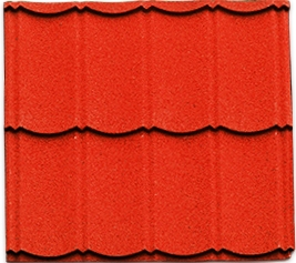 Genteng metal pasir warnah merah