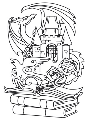 Coloring Page World: Tomes of Imagination