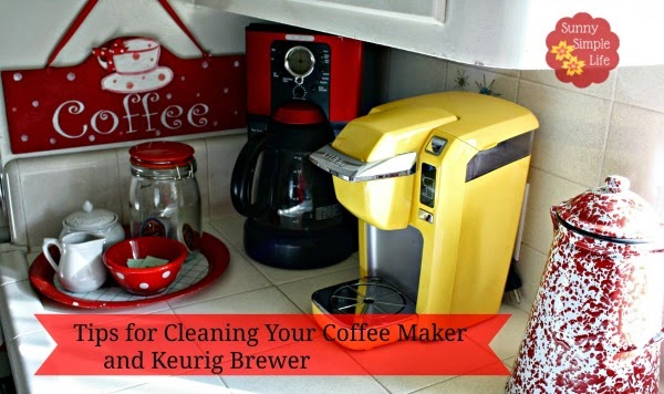 how to clean your coffee maker, coffee sign