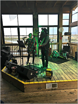 March 21, 2019 Enjoying supper and music with family at the Dead Dog Saloon