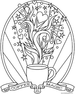 Coffee is magic coloring page to print and color. #coloring #coffee