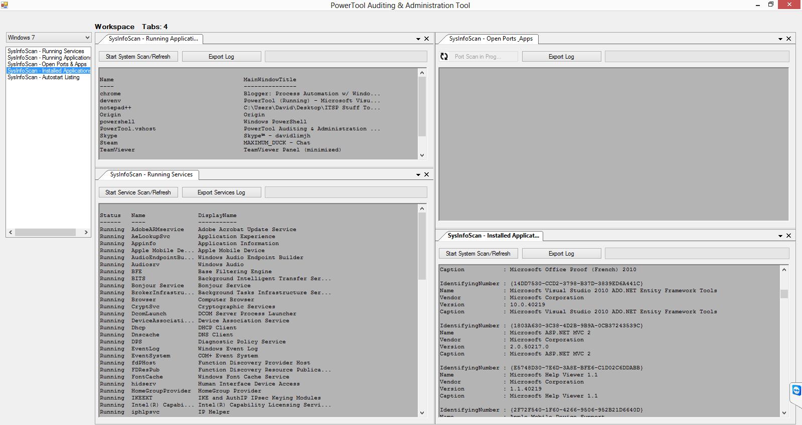 Process Automation w/ Windows Powershell: PowerShell GUI - Switching