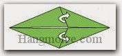Bước 4: Mở hai lớp giấy ra, kéo về bên phải.