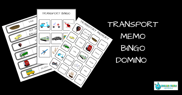 MEANS OF TRANSPORT – MEMORY, BINGO AND DOMINO