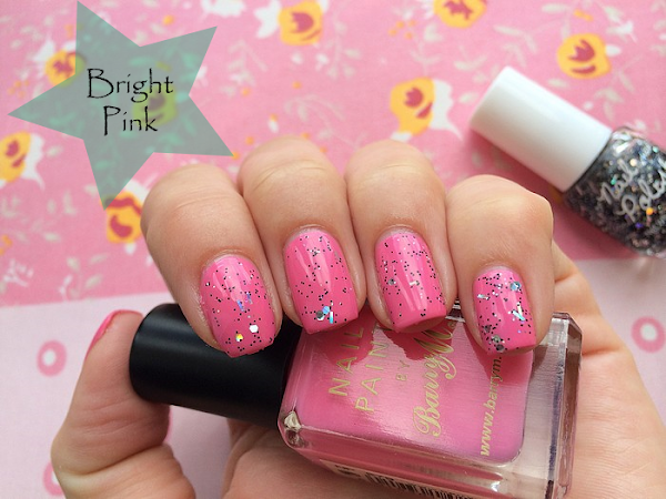 ♥ Barry M - Bright Pink & glitter ♥