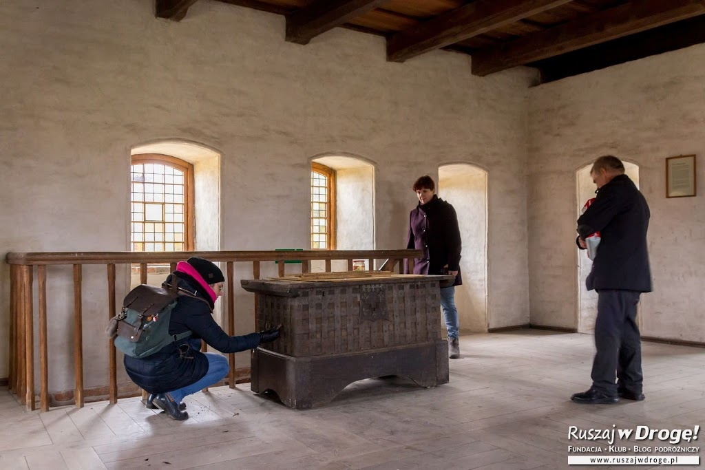 Frombork - ostatnie piętro Wieży Kopernika