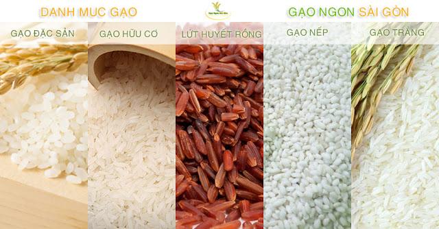 Danh mục các sản phẩm gạo được cung cấp bởi gạo ngon sài gòn